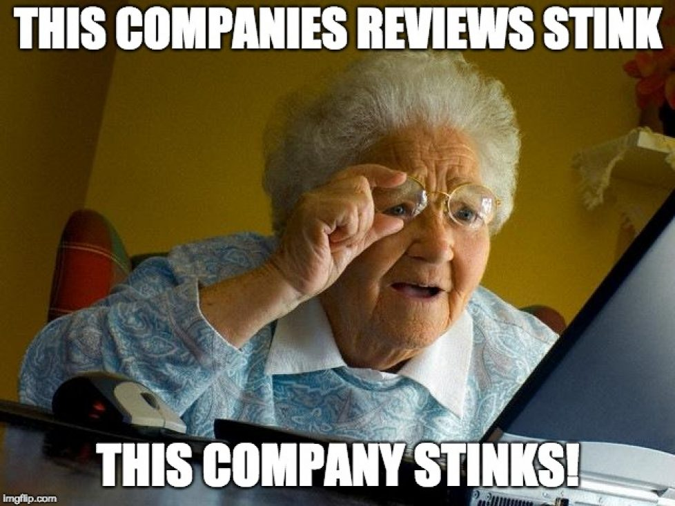 This company's reviews stink this company stinks meme