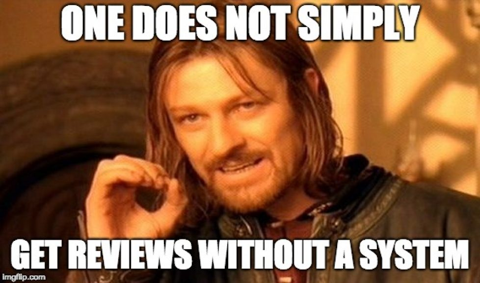 One does not simply get reviews without a system meme