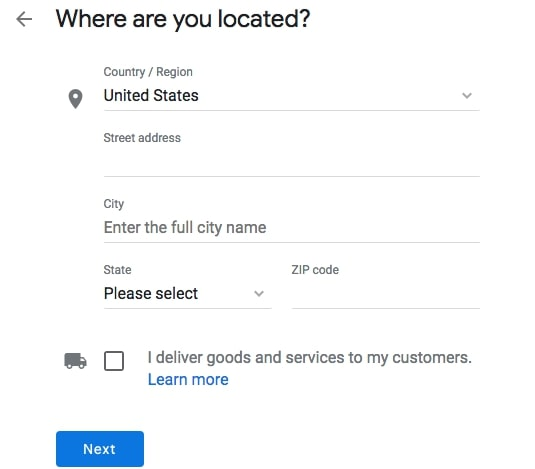 Where Are You Located Google My Business
