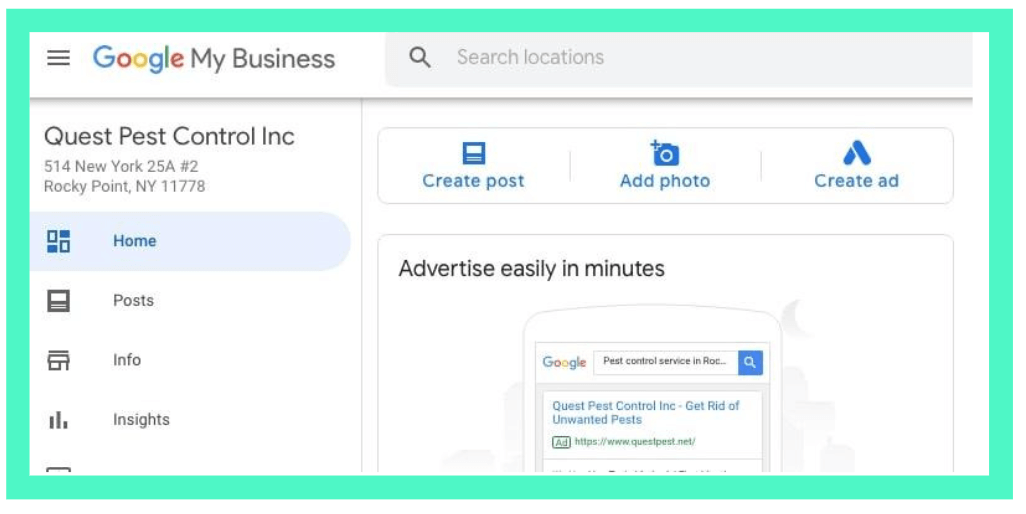 create posts on google my business account