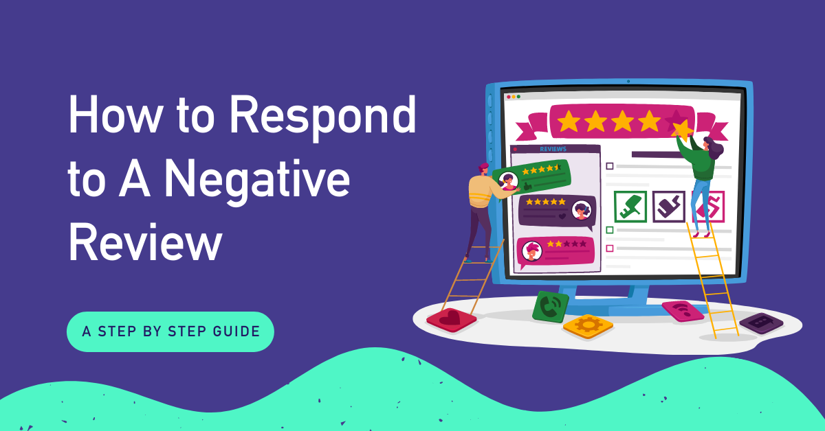 graphic of how to respond to a negative review